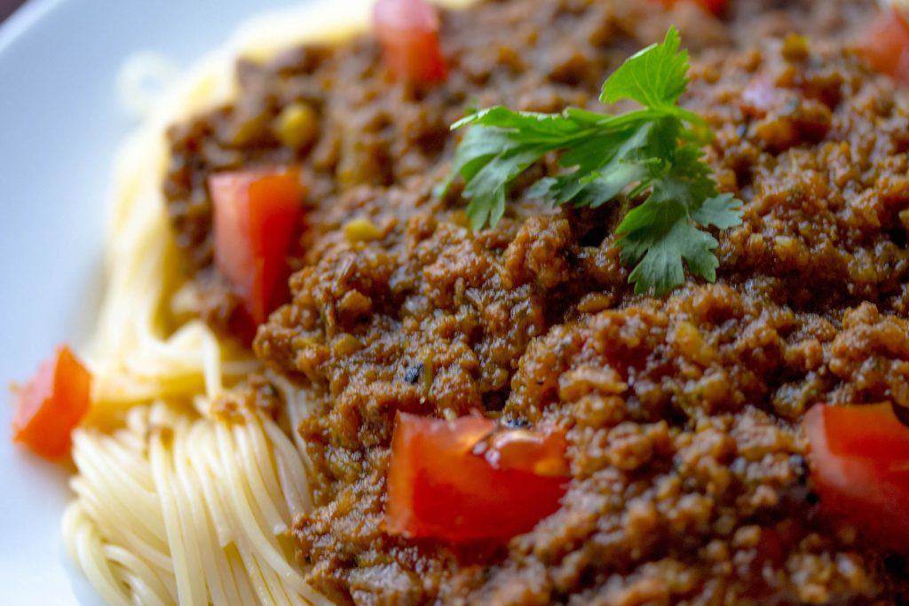 Is red meat ok to eat bolognaise
