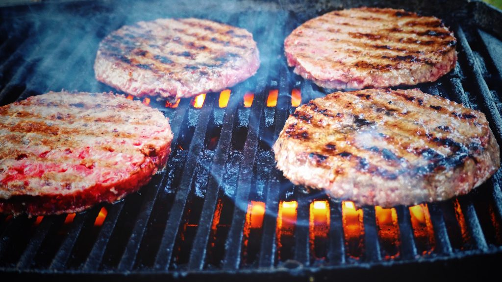 Is red meat ok to eat hamburger grill